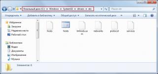 Какие файлы должны быть в папке etc