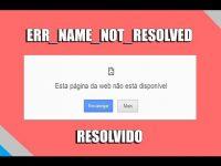 net err name not resolved