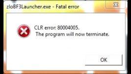 Ошибка clr 80004005 работа программы будет прекращена