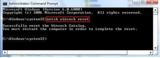 Netsh winsock reset что делает