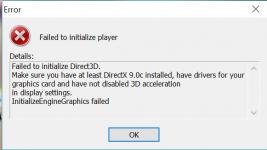 Failed to initialize Direct3D что делать - dcvesta org